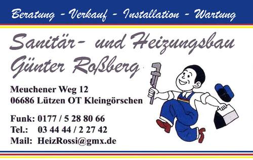 Sanitär- und Heizungsbau Günter Roßberg